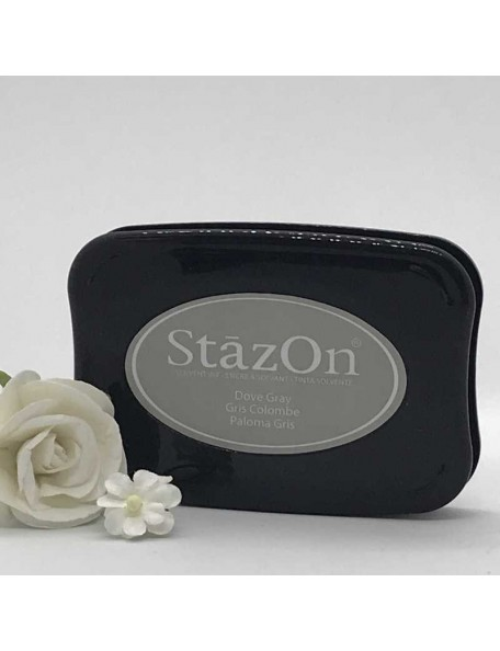 StazOn Solvent Ink Pad, Dove Gray