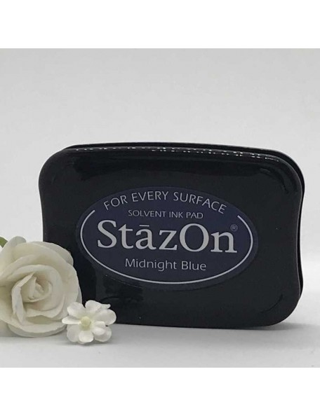 StazOn Solvent Ink Pad, Midnight Blue