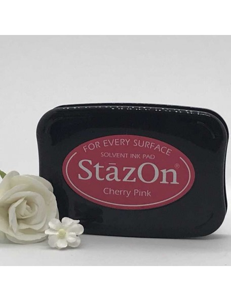 StazOn Solvent Ink Pad, Cherry Pink