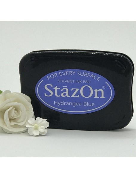 StazOn Solvent Ink Pad, Hydrangea Blue