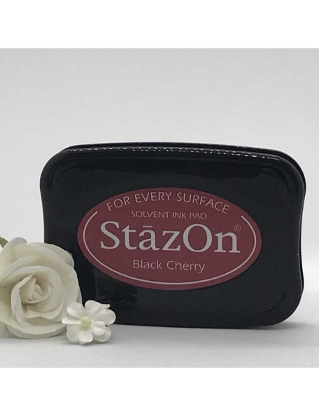 StazOn Solvent Ink Pad, Black Cherry