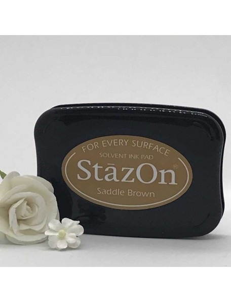 StazOn Solvent Ink Pad, Saddle Brown