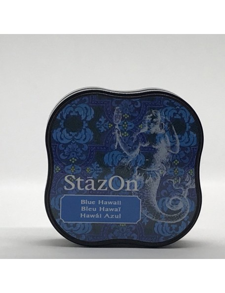 StazOn Midi Ink Pad, Blue Hawaii