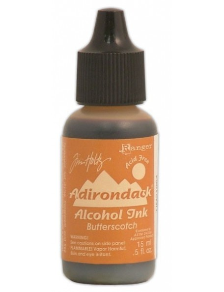Tim Holtz Butterscotch Adirondack Earthtones Alcohol Ink .5Oz
