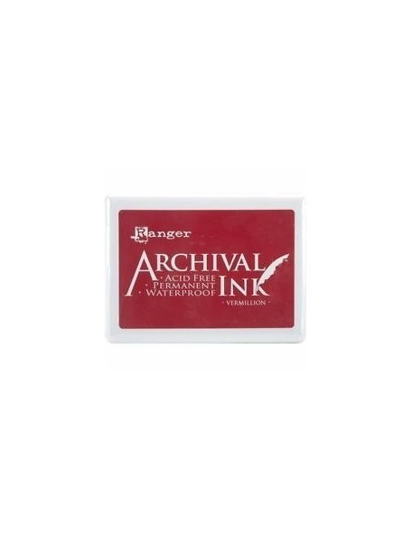 Ranger Archival Ink Vermillon Jumbo Ink Pad No. 3