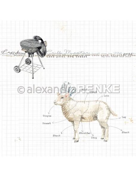 Alexandra Renke Cardstock de una cara 30,5x30,5 cm, Gourmet Cordero/Lamm international