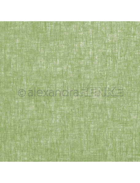 Alexandra Renke Cardstock de una cara 30,5x30,5 cm, Lino Verde/Leinen kräutergrün