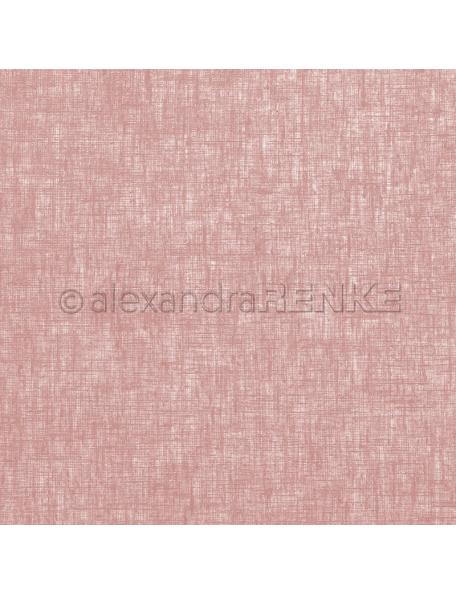 Alexandra Renke Cardstock de una cara 30,5x30,5 cm, Lino Rosa Viejo/Leinen altrosa