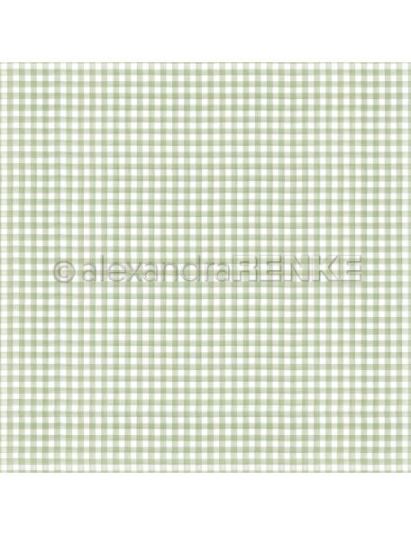 Alexandra Renke Cardstock de una cara 30,5x30,5 cm, Küchenkaro Kleegrün