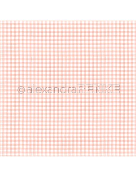 Alexandra Renke Cardstock de una cara 30,5x30,5 cm, Küchenkaro Rosa