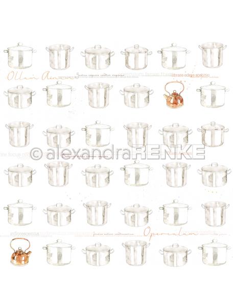 Alexandra Renke Cardstock de una cara 30,5x30,5 cm, Ollas/Kochtopf
