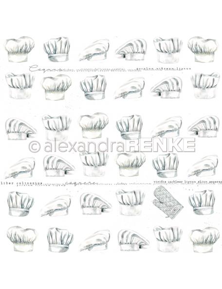 Alexandra Renke Cardstock de una cara 30,5x30,5 cm, Gorro de Cocinero/Kochmützen