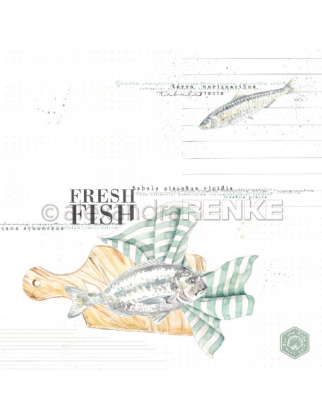 Alexandra Renke Cardstock de una cara 30,5x30,5 cm, Fresh fish