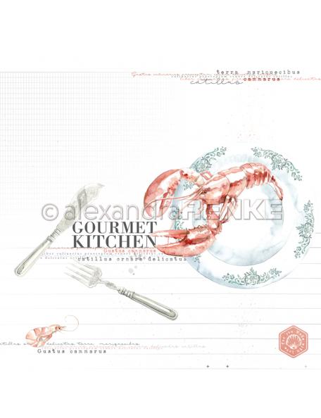 Alexandra Renke Cardstock de una cara 30,5x30,5 cm, Gourmet kitchen