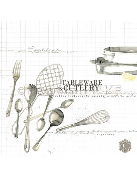 Alexandra Renke Cardstock de una cara 30,5x30,5 cm, Tableware...