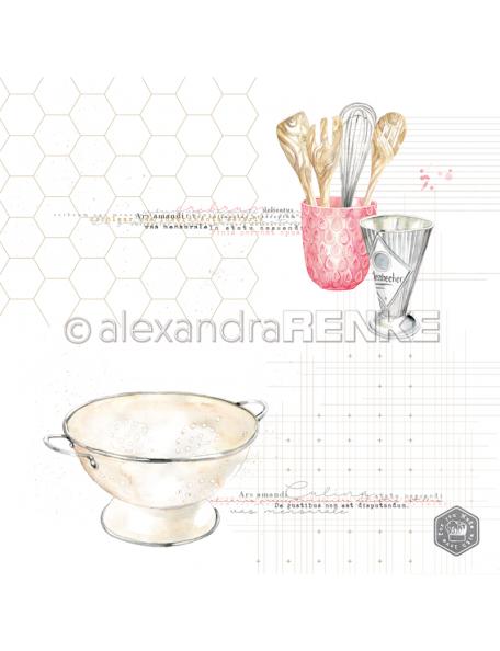 Alexandra Renke Cardstock de una cara 30,5x30,5 cm, Nudelsieb