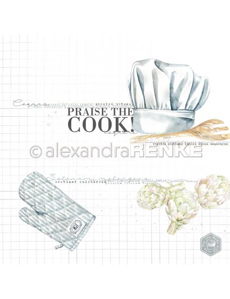 Alexandra Renke Cardstock de una cara 30,5x30,5 cm, Praise the cook