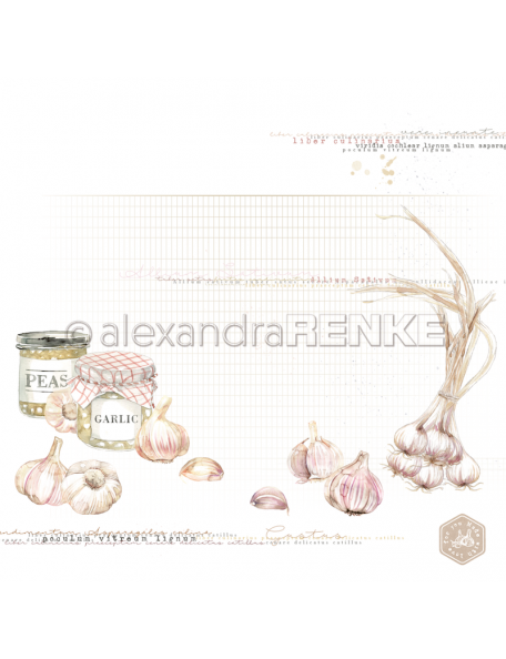 Alexandra Renke Cardstock de una cara 30,5x30,5 cm, Peas and garlic