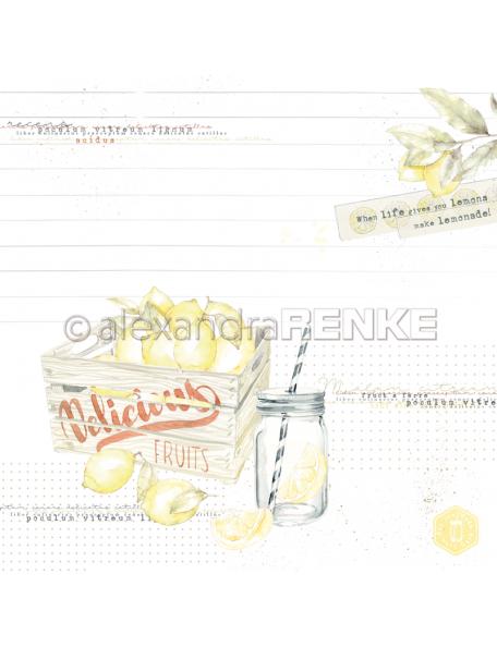 Alexandra Renke Cardstock de una cara 30,5x30,5 cm, Delicious fruits