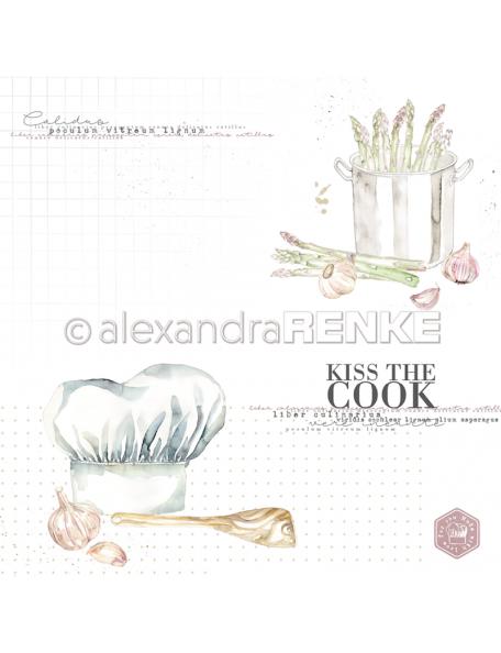 Alexandra Renke Cardstock de una cara 30,5x30,5 cm, Kiss the cook