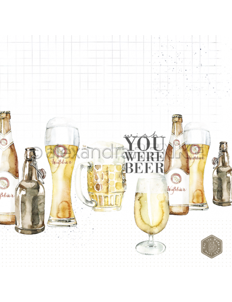 Alexandra Renke Cardstock de una cara 30,5x30,5 cm, Wish you were Beer