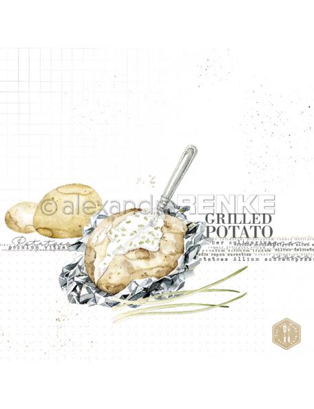 Alexandra Renke Cardstock de una cara 30,5x30,5 cm, Grilled Potato