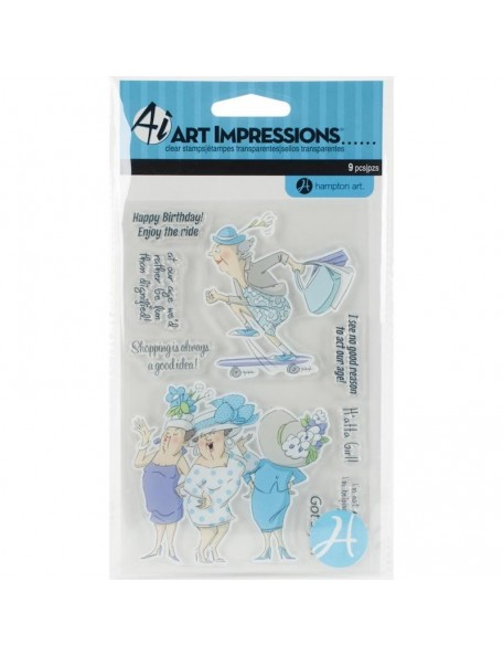 Art Impressions People Clear Stamps, Got Style