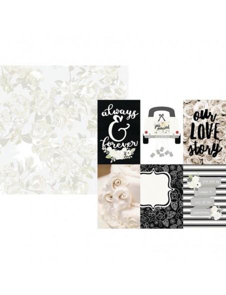 "Simple Stories Always & Forever Cardstock de doble cara 12""X12"", 4""X6"" Vertical Elements"