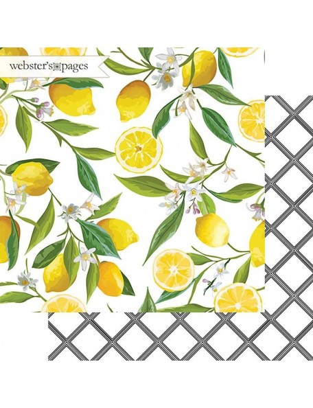 "Webster's Pages The Good Life Cardstock de doble cara 12""X12"", Lemon Squeeze"
