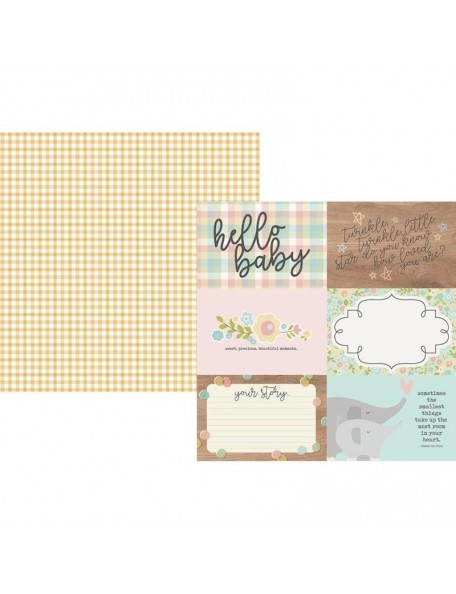 "Simple Stories Oh Baby! Cardstock de doble cara 12""X12"", 4""X6"" Horizontal Elements"