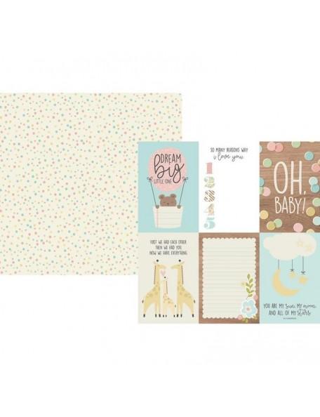 "Simple Stories Oh Baby! Cardstock de doble cara 12""X12"", 4""X6"" Vertical Elements"