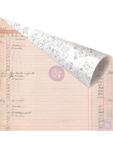 "Prima Marketing Lavender Rose Gold Foiled Cardstock de doble cara 12""X12"", My Last Note"