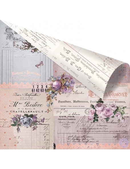 """Prima Marketing Lavender Rose Gold Foiled Cardstock de doble cara 12""""X12"""", Through The Years"""