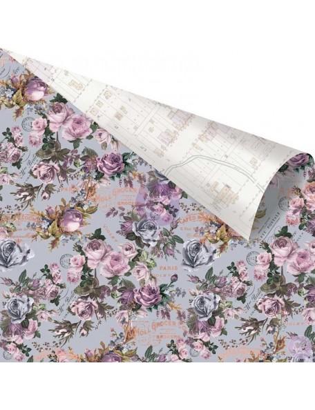 "Prima Marketing Lavender Rose Gold Foiled Cardstock de doble cara 12""X12"", My Love In The Bundle"