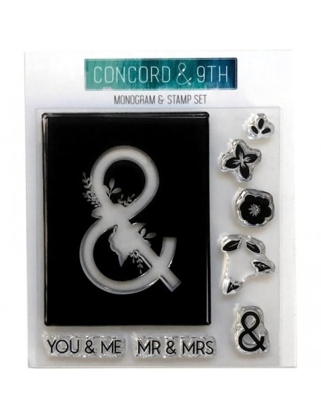 "Concord & 9th Clear Stamps 4""X4"", Monogram &"