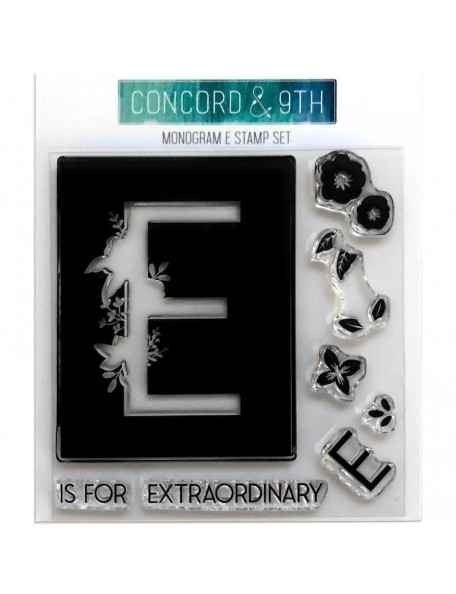 "Concord & 9th Clear Stamps 4""X4"", Monogram E"