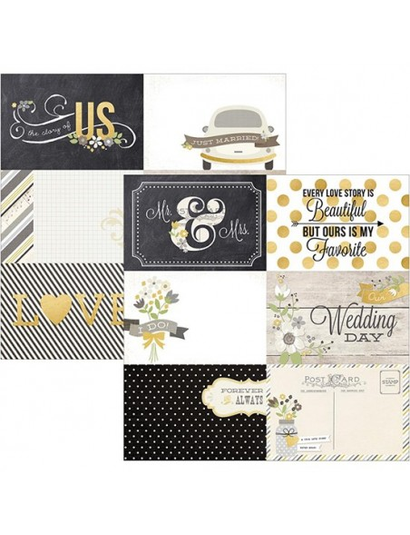 """Simple Stories The Story Of Us Elements Cardstock de doble cara 12""""X12"""", 4""""X6"""" Horizontal Journaling Cards"""
