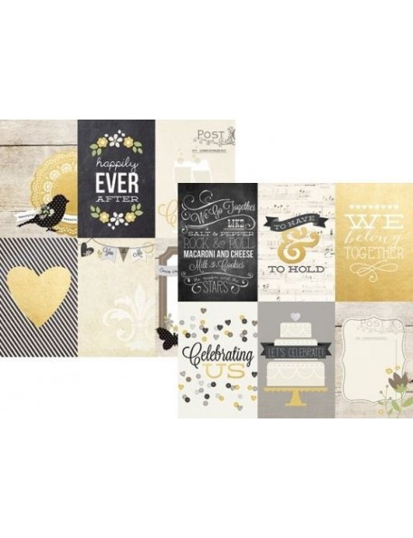 """Simple Stories The Story Of Us Elements, 4""""X6"""" Vertical Journaling Cards"""