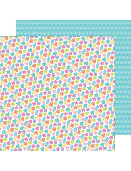 "Doodlebug Under The Sea Cardstock de doble cara 12""X12"", Beach Treasures"