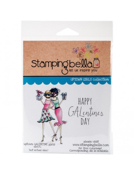 Stamping Bella Cling Stamps-Gwyneth & Gloria Celebrate Galentines