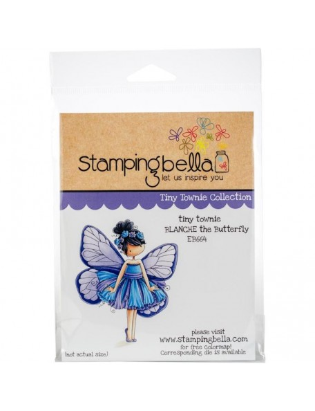 Stamping Bella Cling Stamps, Garden Girl Lily Of The Valley