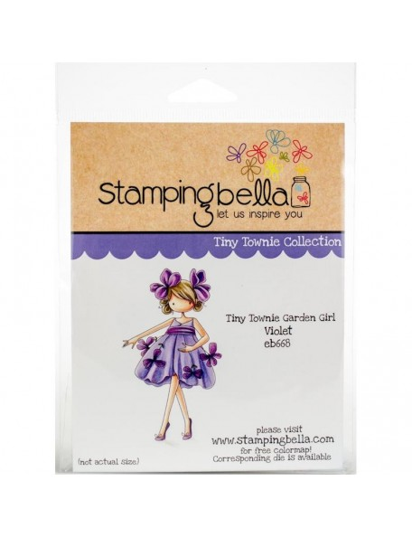 Stamping Bella Cling Stamps, Tiny Townie Garden Girl Violet