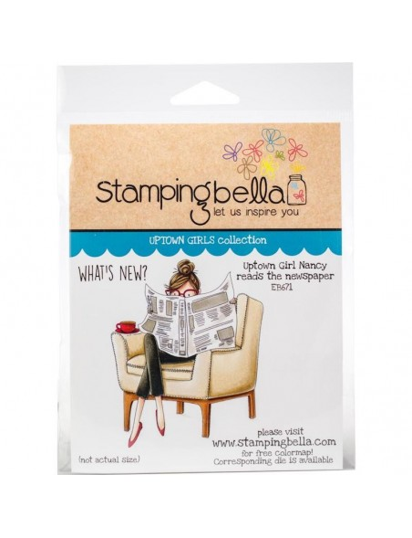 Stamping Bella Cling Stamps, Uptown Girl Nancy Reads The Newspaper
