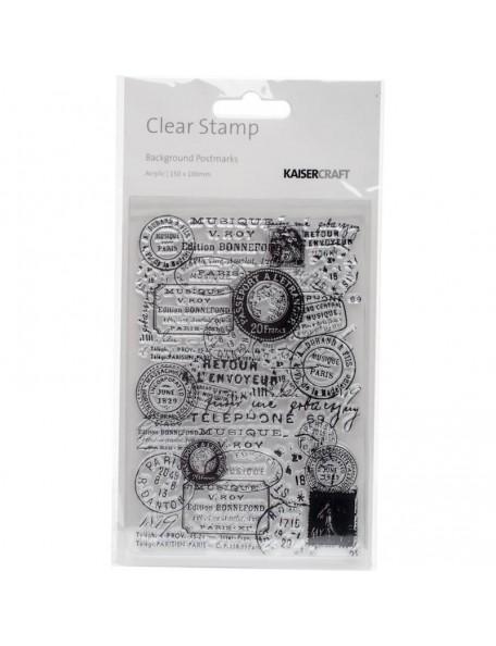 "Kaisercraft Clear Stamp 6""X4"", Postmarks"
