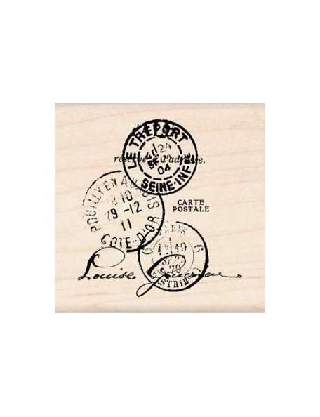 "Inkadinkado Mounted Rubber Stamp 2""X2"", Paper Artsy Tre'port Postal"