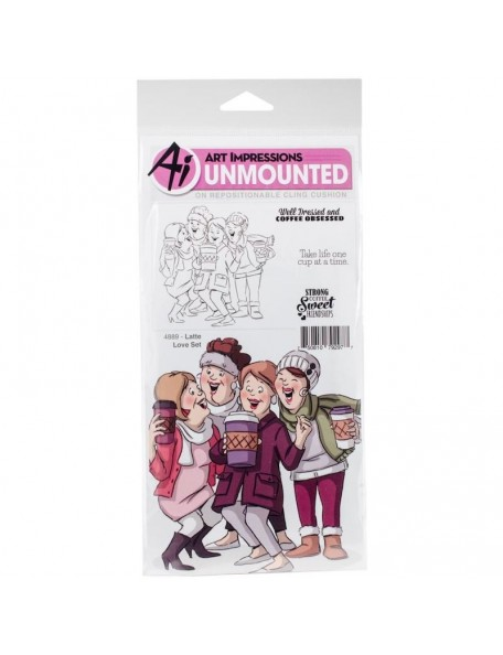 Art Impressions Girlfriends Cling Rubber Stamp, Crazy Friends
