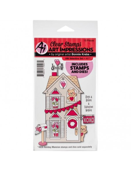 Art Impressions Holiday Mansion Stamp & Die Set, Valentine