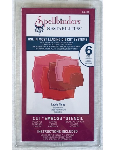 Spellbinders Nestabilities Dies-Labels 3
