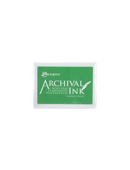 Archival Ink Jumbo Ink Pad No. 3, Esmerald Green