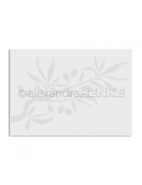 Alexandra Renke Embossing Folder Rama de Olivo/Olivenzweig